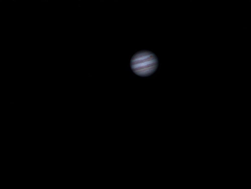 "Jupiter and the GRS, May 19th 2017. Kenko 3"" refractor."