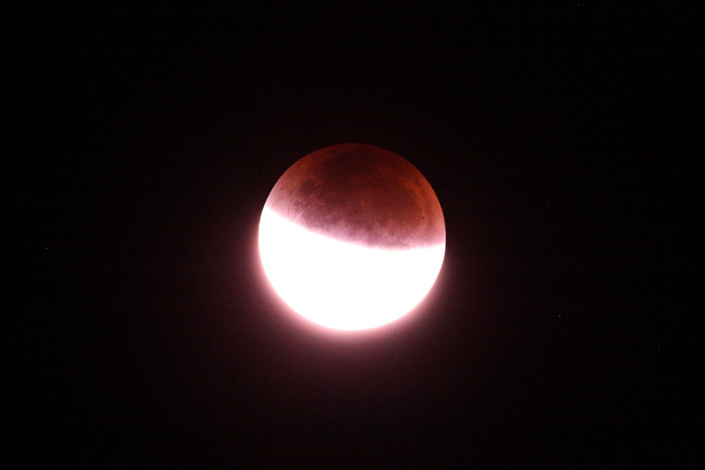 Lunar Eclipse from Somerset September 2015. 2.37am 1/15s at ISO 1600