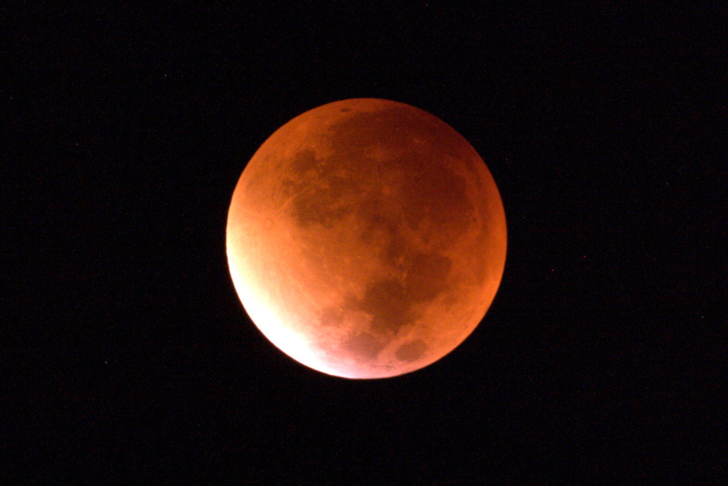 Lunar Eclipse from Somerset September 2015 3.13pm. ISO800, 0.5s. Approaching mid eclipse.
