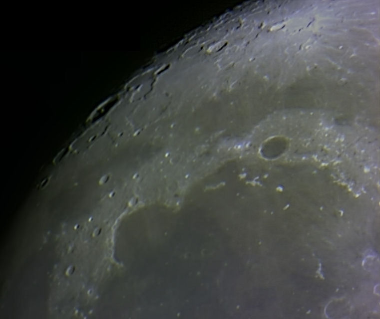 Webcam shot of the NW Mare Imbrium including the Sinus Iridium.