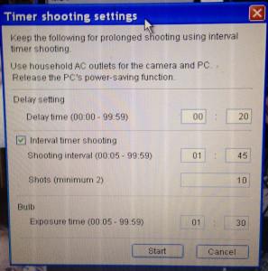 EOS Utility Timer shooting