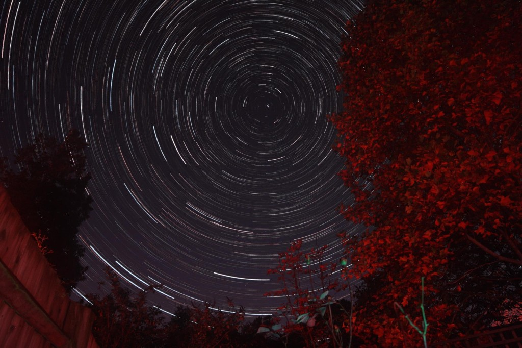 Startrails over Somerset October 2015
