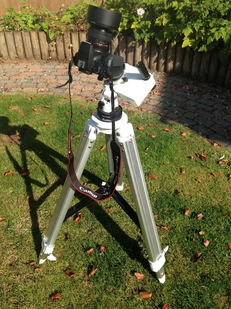 iOptron Skytracker mounted on top of a Vixen Porta II tripod.