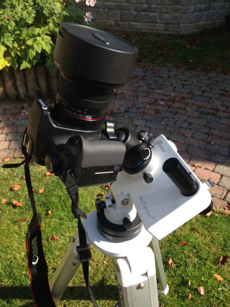 iOptron Skytracker with a Canon EOS and Samyang 14mm lens