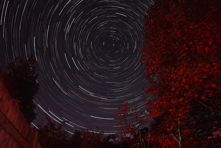 Startrails over Winscombe 31st October 2015_small