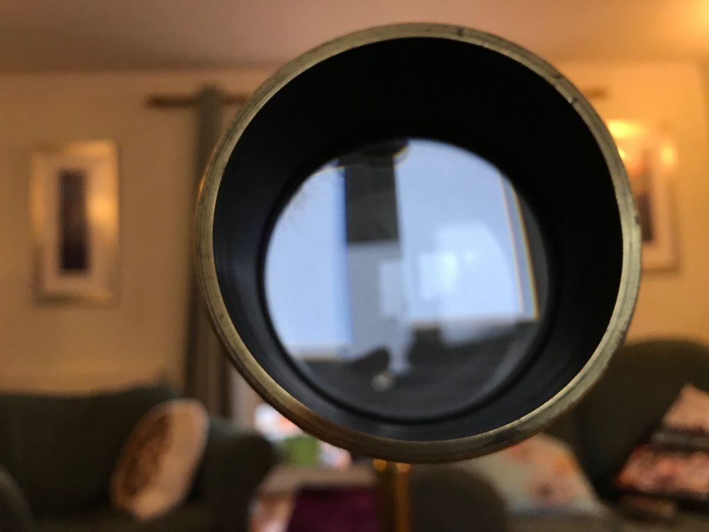 Early 20th Century Broadhurst Clarkson library telescope objective lens